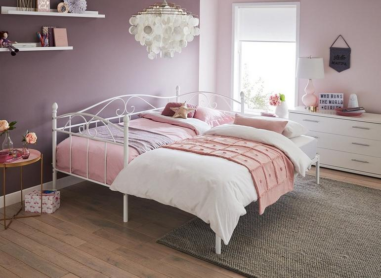Kylie Metal Day Bed with Pull Out