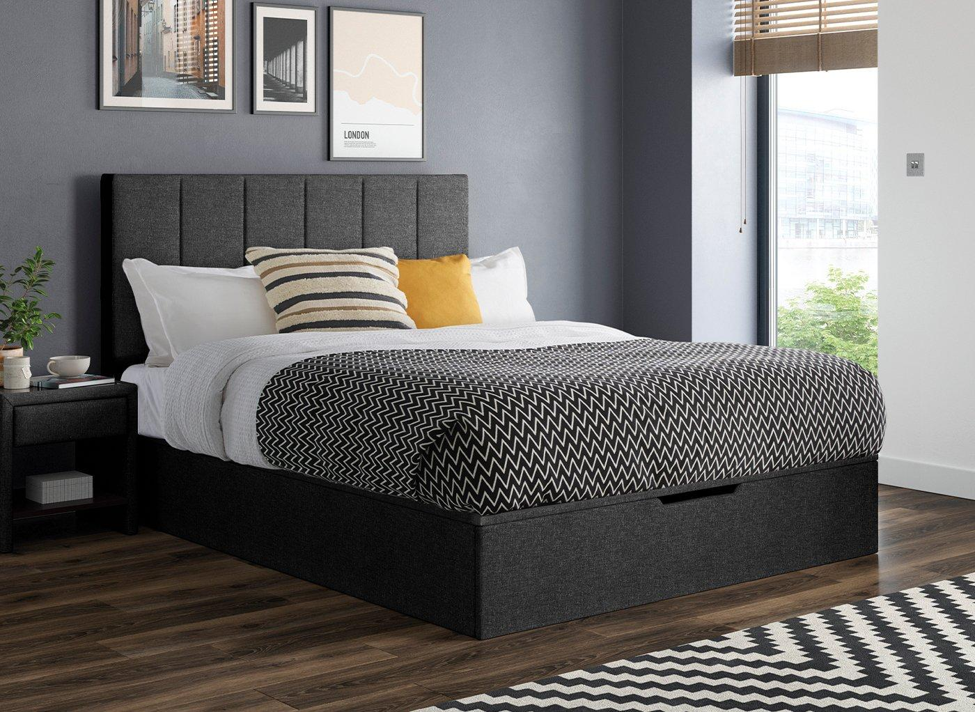 Bed frame with no foot end
