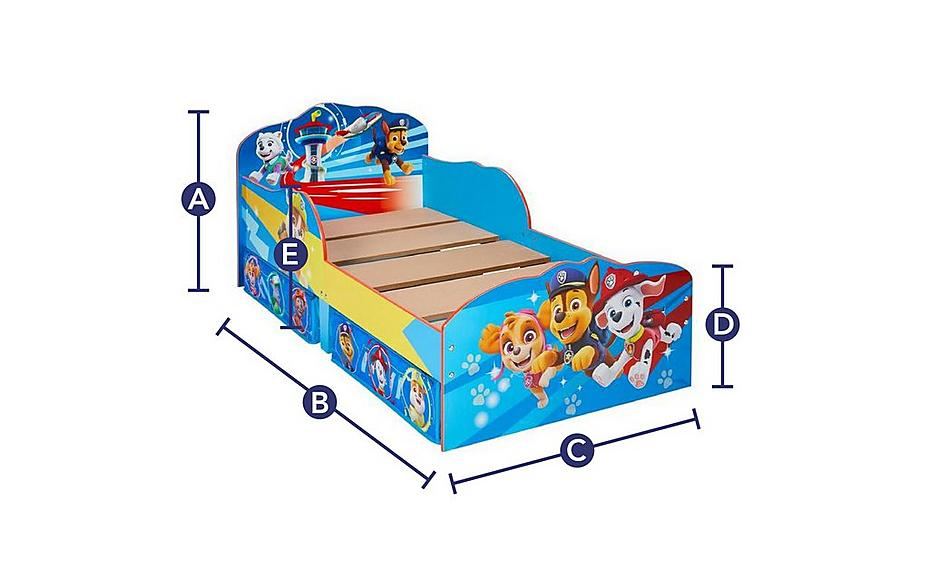 Paw Patrol Toddler Bed With Storage Storage Beds Beds Dreams