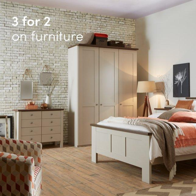 3 for 2 on furniture