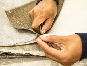 Hand sewing fabric