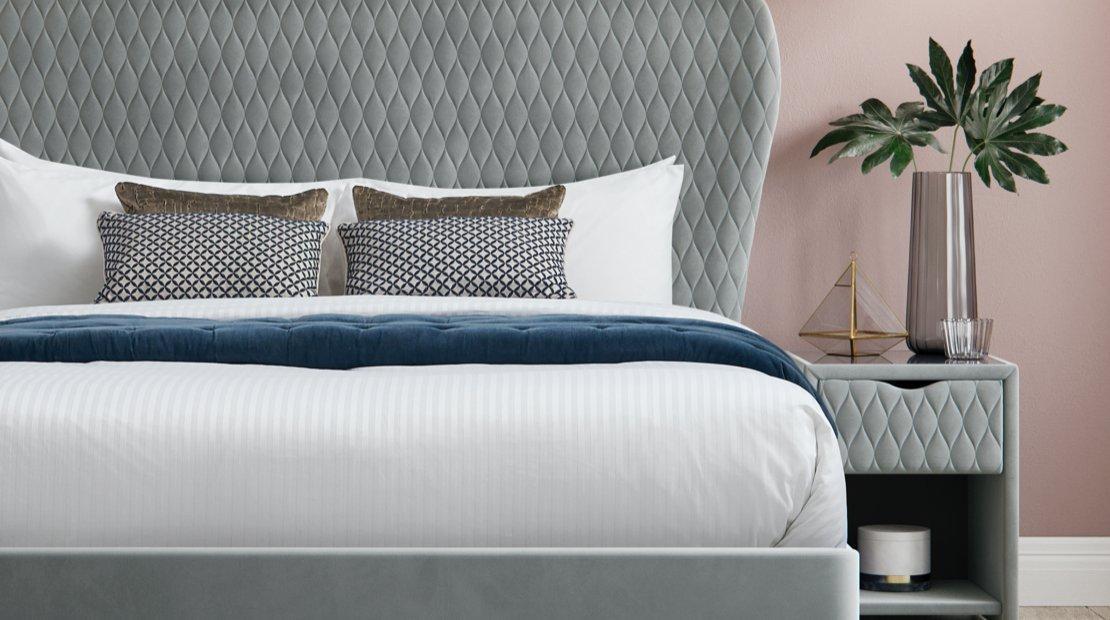 Grove grey bed frame